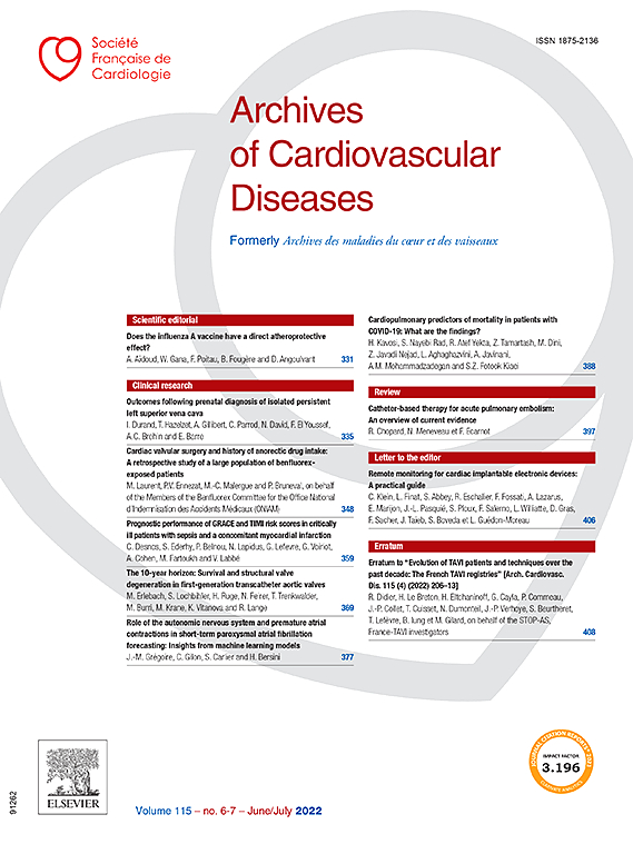 Archives of Cardiovascular Diseases | Journal