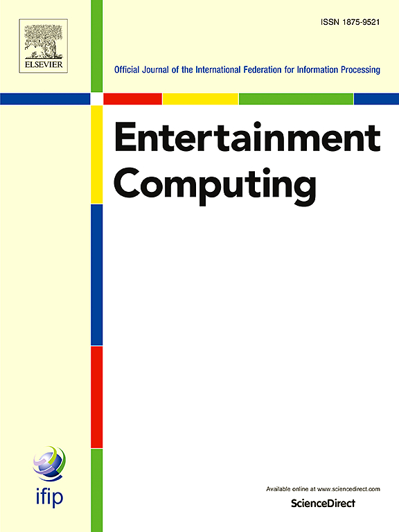 Journal Cover for Entertainment Computing - Official Journal for Information Processing