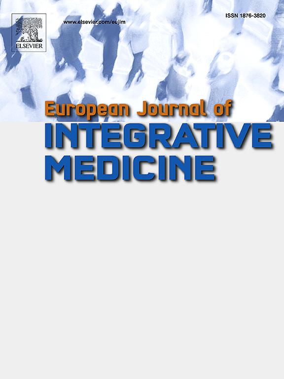 European Journal of Integrative Medicine | ScienceDirect com