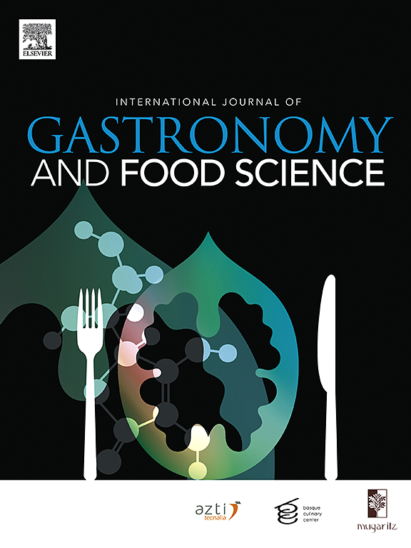 International Journal Of Gastronomy And Food Science Elsevier