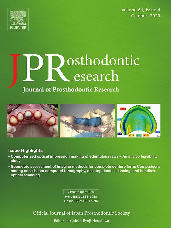 Journal Of Prosthodontic Research Elsevier