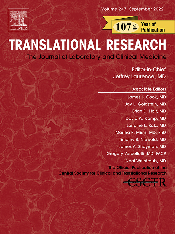 Translational Research | Journal | ScienceDirect com