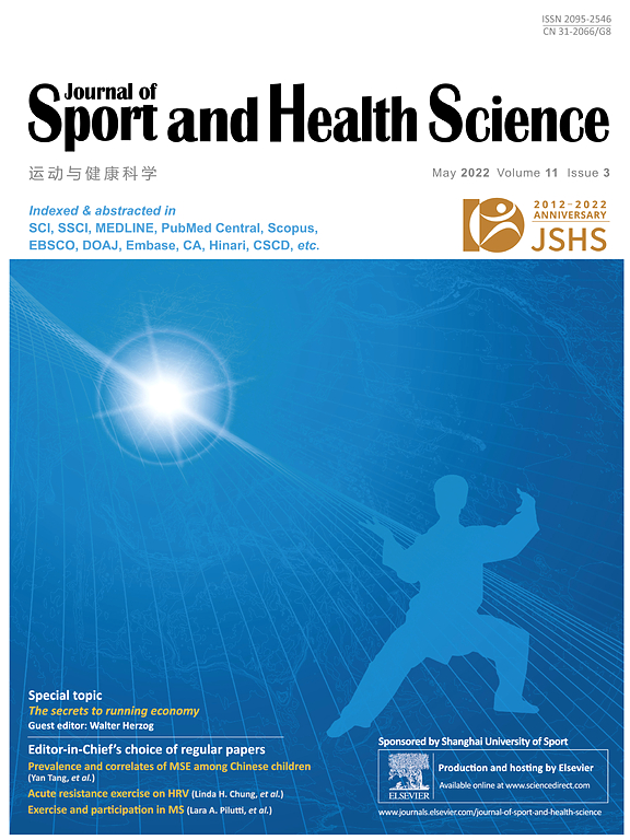 Cover image Journal of Sport and Health Science