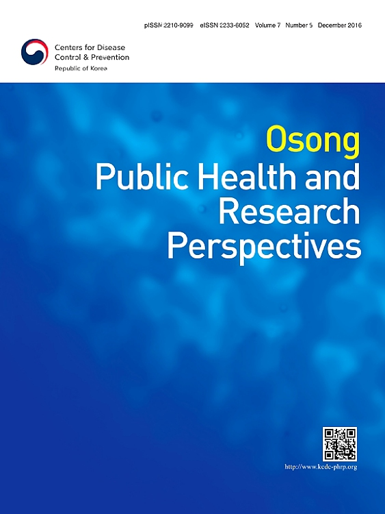 Cover image Osong Public Health and Research Perspectives