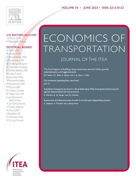 Economics of Transportation   Journal   ScienceDirect com
