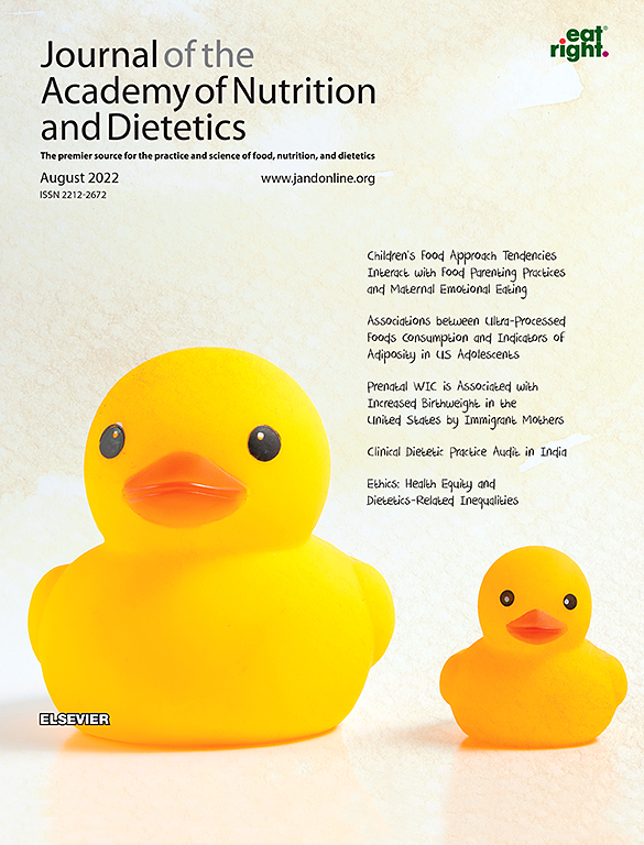 Cover image Journal of the Academy of Nutrition and Dietetics