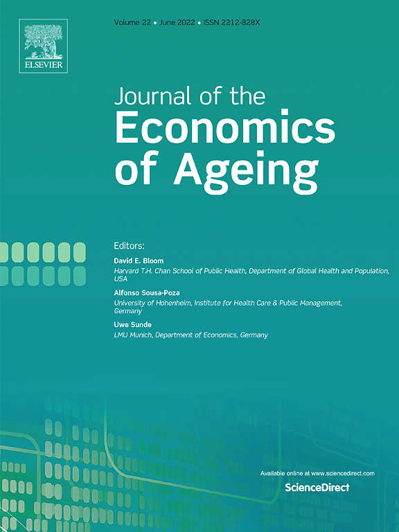 The Journal Of The Economics Of Ageing Sciencedirect Com