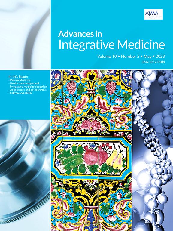 Recent Advances In Integrative Medicine Articles Elsevier