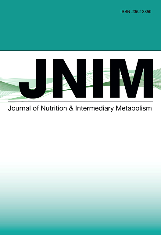 Cover image Journal of Nutrition & Intermediary Metabolism