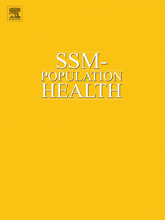 Cover image SSM - Population Health