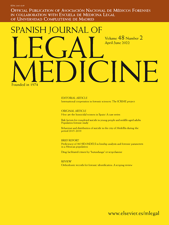 Spanish Journal Of Legal Medicine Elsevier