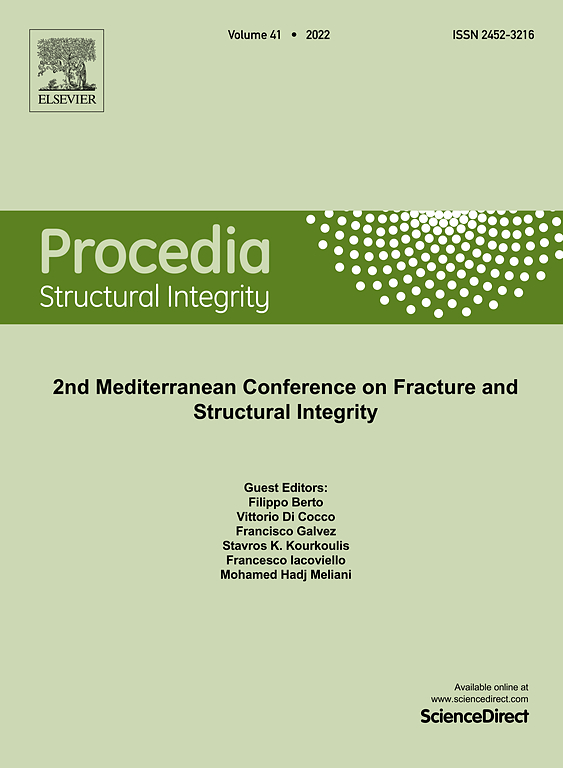 Cover image Procedia Structural Integrity