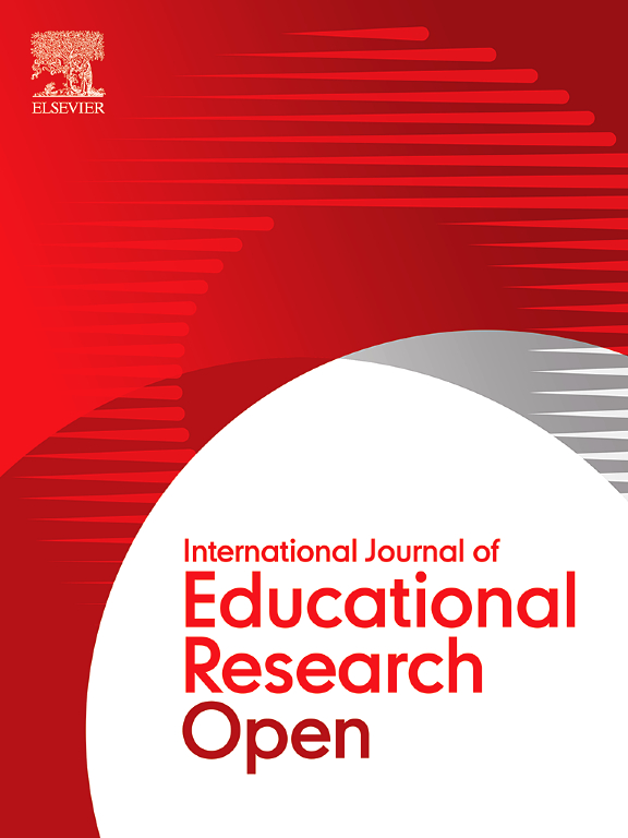 International Journal of Educational Research Open - Elsevier