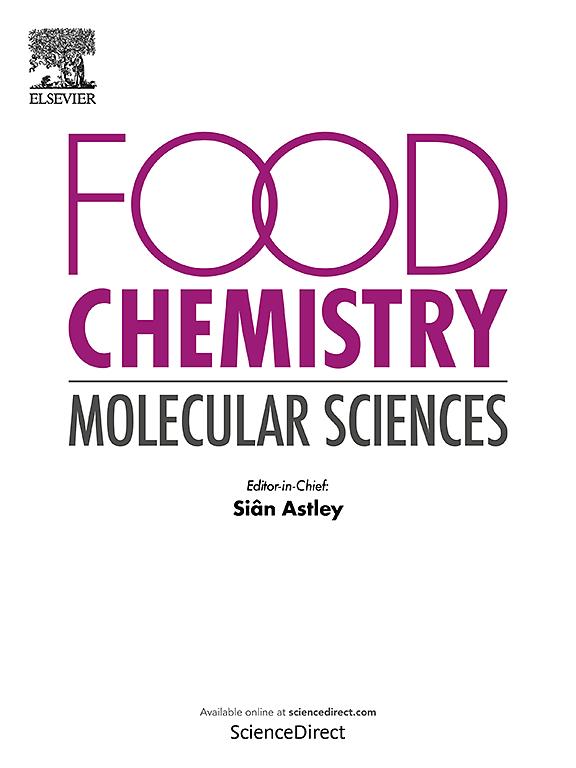 Food Chemistry Molecular Sciences Journal Elsevier