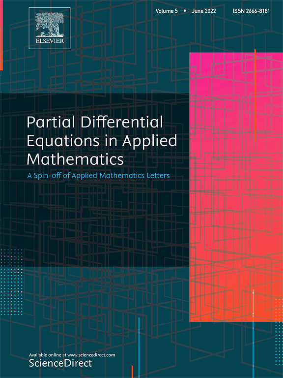 Partial Differential Equations In Applied Mathematics Journal Elsevier